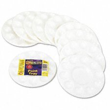 Round Plastic Paint Trays for Classroom, 10/Pack