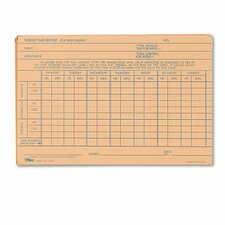 Employee Time Report Card, 100/Pack