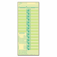 Time Card for Lathem, Bi-Weekly, Two-Sided, 500/Box