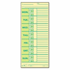 Time Card for Pyramid Model 331-10, Weekly, Two-Sided, 500/Box