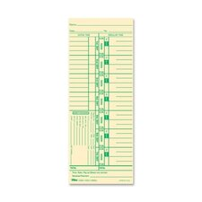 "Time Cards, 150lb., 3-1/2""x9"", 100 per Pack"