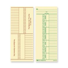 Tops Named Days and Overtime Time Cards