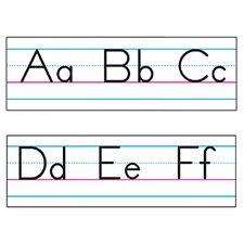 Basic Alphabet Zaner-Bloser Manuscript Classroom Border