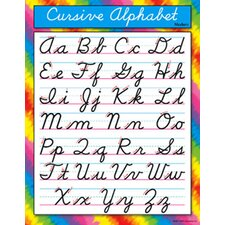 Cursive Alphabet Modern Chart (Set of 3)