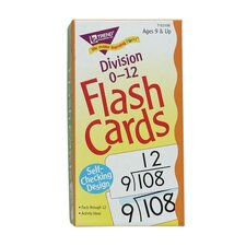 "Math Flash Cards, Division, 0 To 12, 3""x5-7/8"""