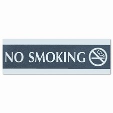 Headline Sign Century Series Office Sign, No Smoking