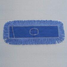 """24"""" x 5"""" Looped End Dust Mop Head in Blue"""