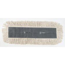 Cut-End Dust Mop Head in White