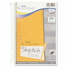 Academie Wirebound Sketch Diary, 9 x 6, White, 70 Pages (Set of 2)