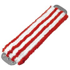 Microfiber Mop Head in Red / White
