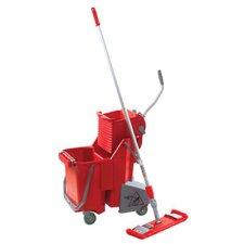 Side-Press Restroom Mop Bucket Floor Pack in Red