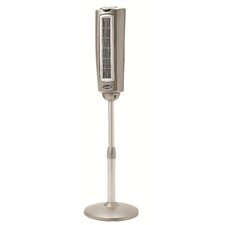 """52.75"""" Space-Saving Oscillating Pedestal Fan with Remote Control"""
