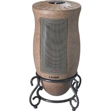 Ceramic 1,500 Watt Portable Electric Heater with Adjustable Thermostat