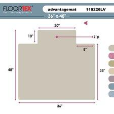 Cleartex Advantagemat Standard Pile Carpet Chair Mat
