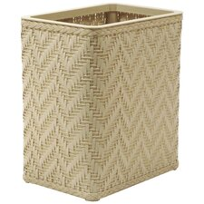 Elegante Decorator Wicker Wastebasket