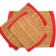 Bamboo Non Slip 3 Piece Cutting Board Set