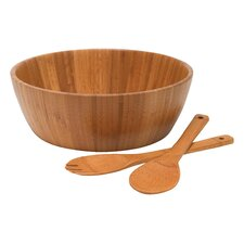 Bamboo 3 Piece Salad Bowl Set