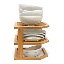 Bamboo 3 Tier Corner Shelf