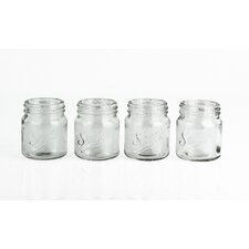 Mixology 4 Piece 225 ml Jam Pot Shot Glass Set