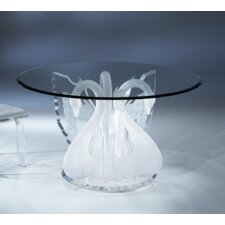 Legend Swan Acrylic Round Dinette Dining Table