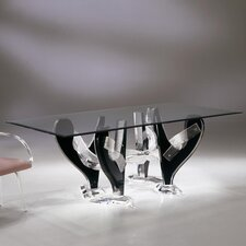 "Snake Dining Table with 1/2"" Thick Glass"