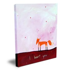 Words of Wisdom I Heart You Canvas Art