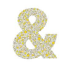 Lotsa Alphabet Art Chicks Ampersand Paper Print