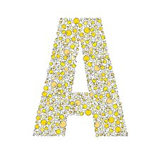 Lotsa Alphabet Art Chicks Paper Print