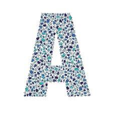 Lotsa Alphabet Art Penguins Paper Print