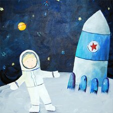 Wit & Whimsy Man on the Moon Canvas Art