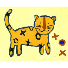 X and O Tiger Paper Print