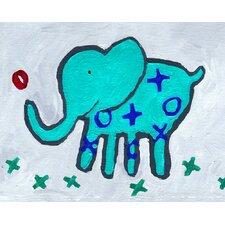 X and O Elephant Paper Print