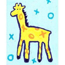 X and O Giraffe Paper Print