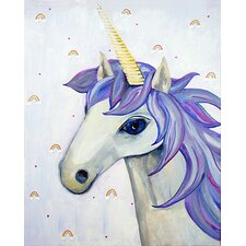 Dream a Little Dream 'Unicorn' by Liz Clay Painting Print on Canvas