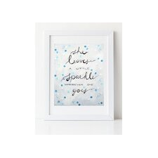 Dream a Little Dream 'Sparkle' by Liz Clay Framed Textual Art in Turquoise