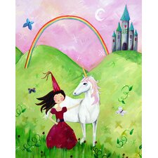 Wit & Whimsy Princess Brunette Canvas Art