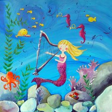 Wit & Whimsy Blonde Haired Mermaid Giclee Canvas Art