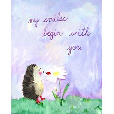 Words of Wisdom My Smiles Begin with You Paper Print