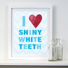 I Heart Shiny White Teeth Paper Print