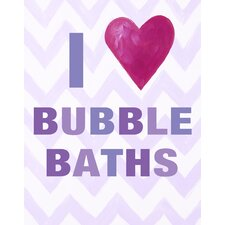 I Heart Bubble Baths Paper Print