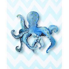 Nautical Octopus Paper Print