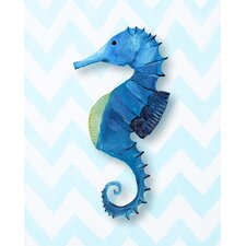 Nautical Seahorse Giclée Canvas Art