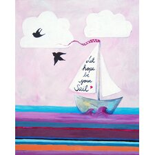 Nautical Let Hope Be Your Sail Paper Print