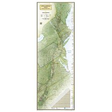 Appalachian Trail Laminated Map