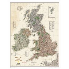 Britain and Ireland Executive Wall Map