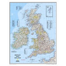 Britain and Ireland Wall Map