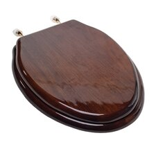Designer Solid Wood Elongated Toilet Seat