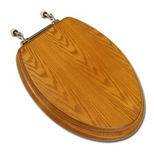Decorative Wood Elongated Toilet Seat