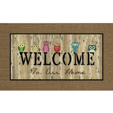 Masterpiece Owl Welcome Doormat