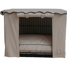 Stone Beige Dog Crate Cover